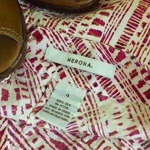 Medina size 4 patterned silk skirt.